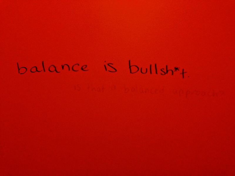 balance is bullsh*t&lt;br /&gt;<br />